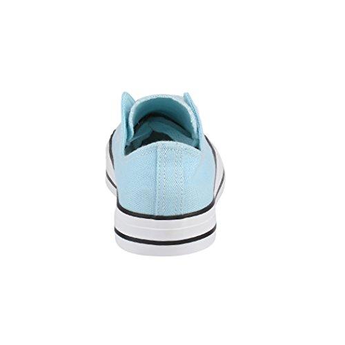 Low Nummer Herren Unisex Top Schuhe Sneaker Textil Basic Größer Bequeme Sportschuhe Elara und für Turnschuh Blue Eine 36 Aus 46 Fällt Damen q8SHqfwx