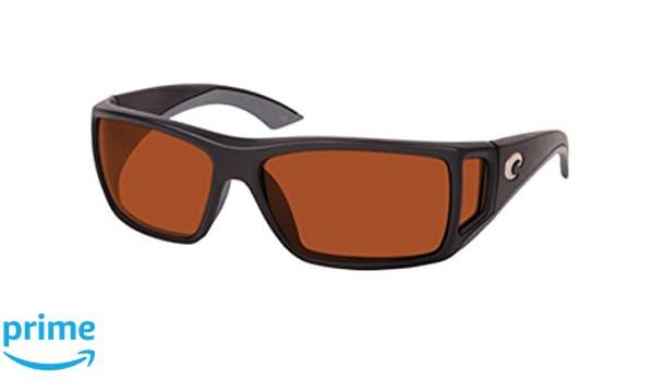 4f9d69eedf Amazon.com  Costa Del Mar Sunglasses - Bomba- Glass   Frame  Black Lens  Polarized  Copper Wave 580 Glass  Clothing