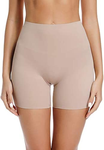 Joyshaper Slip Shorts for Under Dresses Anti Chafing Thigh Bands Underwear Women Girls Lace Stretch Safety Pants