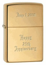 Personalized Genuine Brass Zippo Lighter - Christmas Gift - Father's Day Gift Idea - Birthday Gift