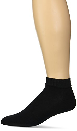 Gildan Men's Stretch Cotton Low Cut Socks, 12-Pack, Black, Shoe Size: 6-12