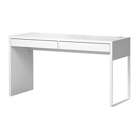 Ikea MICKE escritorio en color blanco; (142 x 50 cm): Amazon ...