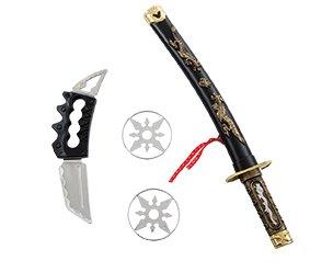 Ninja Set de espada con vaina cuchillo 2 lanzamiento ...