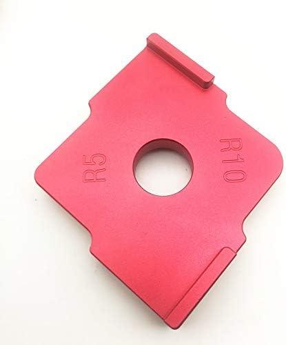 ZDX-MGGJ, 3Pcs / Set Radius Schnell Jig Router Tabelle Bit R5 R10 R15 R20 R25 R30 Corner Jig Vorlagen Holz Router Jig for Holzbearbeitungswerkzeuge (Color : R5 R10)
