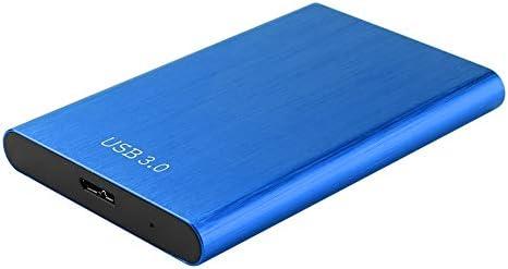 Asiproper 2.5 inch Hard Drive Case SATA III II I to USB 3.0 HDD Adapter External SSD Enclosure Tool Free (blau)