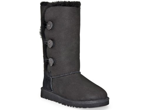 UGG Australia Children's Bailey Button Triplet Little Kids,Black,US 1 M by UGG