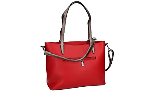apertura spalla zip VN1866 con PIERRE con CARDIN Borsa rosso a donna tracolla q41nEw7Uz