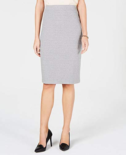 Tommy Hilfiger Herringbone Pencil Skirt (White, 2XL) ()