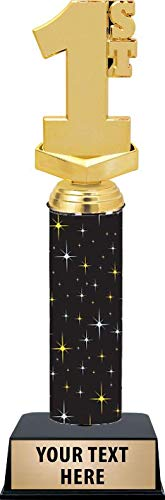 11 Inch 1st Place Trophies - Black Midnight 1st Place Trophy Awards Prime ()