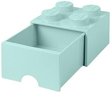 LEGO Brick 4 Schublade Knöpfe, 1 Schublade, Stapelbar Aufbewahrungsbox, 4,7  L