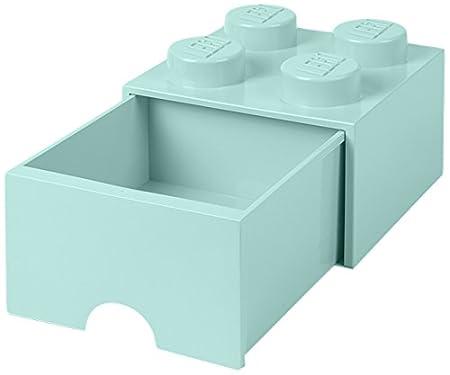 Tiroir en brique LEGO 4 boutons, 1 tiroir, boîte de rangement empilable, 4.7 l 5711938029449