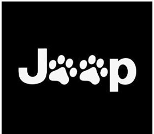 Jeep Wrangler Cat Dog Paw Print Car Window Vinyl Decal Sticker 5