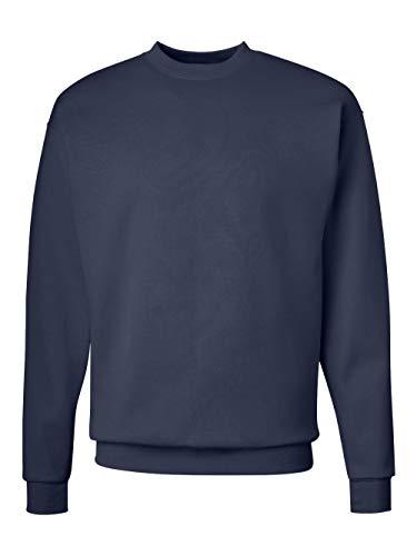 Hanes Men's Ecosmart Fleece Sweatshirt, Navy, - Navy Sweater Crewneck