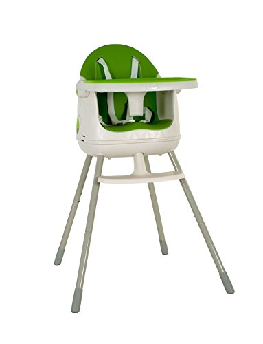 Keter 3-in-1 Multi-Dine Convertible High Chair/Booster Seat/Junior Seat, White & Green