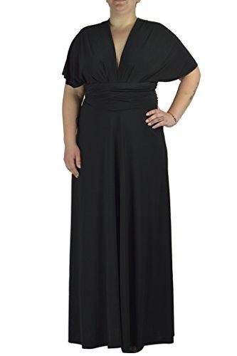 Convertible Dress Black Little (Von Vonni Transformer/Infinity Dress Plus Size XL-3X Sizes (2X, Black))