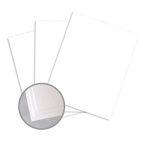 Loop Linen Pure White Paper - 8 1/2 x 11 in 24 lb Writing Linen 30% Recycled 500 per Ream Pure White 24 Lb Writing