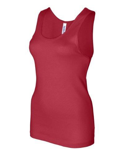 Bella Ladies Baby Rib 100% Cotton Tank Top. 1080 - Red 1080 M