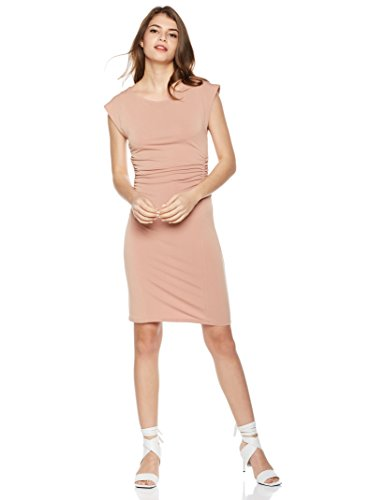 Painted Heart Women's Boat-Neck Dolman Sleeve Ruched Crepe Dress