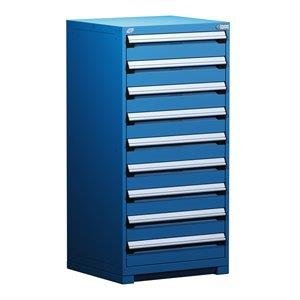 """Rousseau Heavy-Duty Stationary Cabinet (with Compartments), 9 Drawers (30""""W X 27""""D X 60""""H) R5ADG-5813"""
