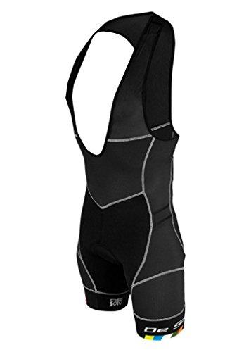 De Soto Sport Riviera Fli Bib - RTB3 - 2018 (Black/DeSoto Leg Band, X-Large) (Bib Triathlon)