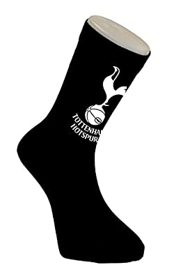 Tottenham Hotspur Spurs Football Crest Socks Black 6-11