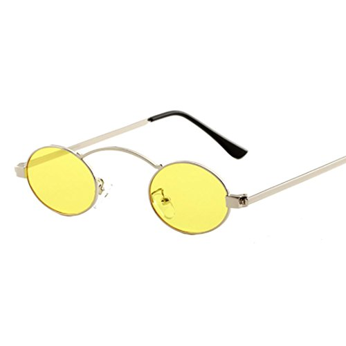 Women Unisex Round Frame Shades Sunglasses Integrated UV Glasses By Limsea