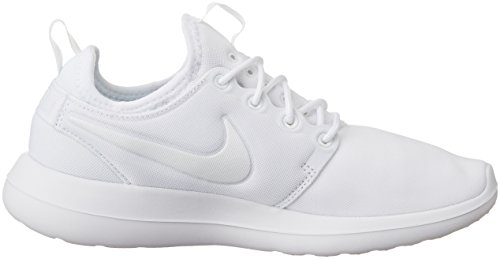 Nike W Roshe Two, Women's Low-Top Sneakers White (White/White-pure Platinum)