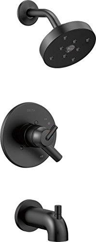 (Delta Faucet T17459-BL Trinsic Monitor 17 Series Tub & Shower Trim, Matte)