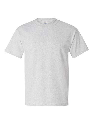 Adult Short Sleeve Beefy Tee Shirt, Color: Ash, Size: XXXX-Large