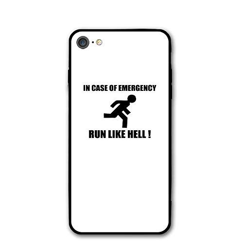 iPhone 7 Case in Case of Emergency Run Protective Shockproof Anti-Scratch Resistant Slim Cover Case for iPhone 7 Hard Shell