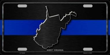 Smart Blonde West Virginia Thin Blue Line Novelty Metal License Plate LP-8930