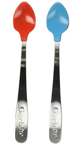 Gerber Graduates Soft-Bite Infant Spoons Colors May Vary, 2-count