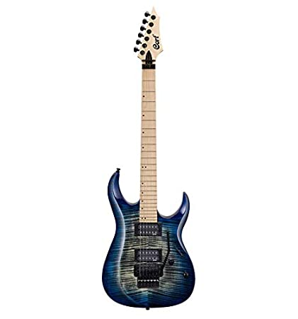 Cort X300 - Guitarra eléctrica serie X, color azul degradado