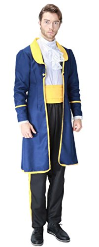 Mumentfienlis Mens Prince Costumes for Halloween Aristocrat Costumes Size XL (Aristocrat Adult Costumes)