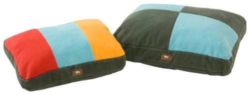 21-Inch by 15-Inch by 5-Inch Small West Paw Design Eco Slumber Small 21-Inch by 15-Inch by 5-Inch Stuffed Dog Bed, Bright Stripe