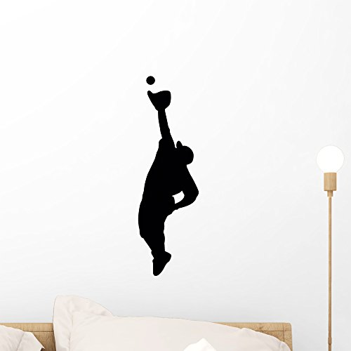 Wallmonkeys WM306956 Sports Silhouette Baseball Style Peel and Stick Wall Decals (18 in H x 6 in W), Small ()