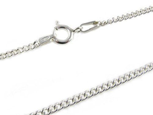 "925 Sterling Silver 2 mm Curb Chain Size: 16 18 20 22 24 inch (24"")"