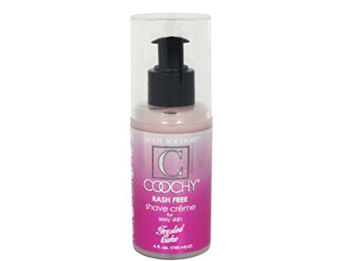- Coochy Rash Free FROSTED CAKE Shave Creme Water Based Shave Cream and Moisturizer - Size 4 Oz