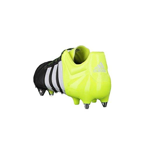 Adidas ACE 15.1 SG Leather Schwarz/Limettengrün/Weiß
