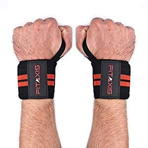 FITAXIS Hand-gelenk Bandagen | Wrist Wraps-Bands für Fitness Bodybuilding stütze.
