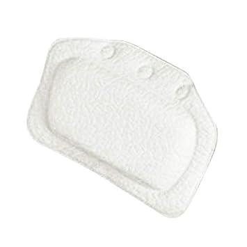 Soulitem spa Bathtub Pillow Home antiscivolo in PVC per vasca da bagno cuscino morbido collo poggiatesta ventosa Blue