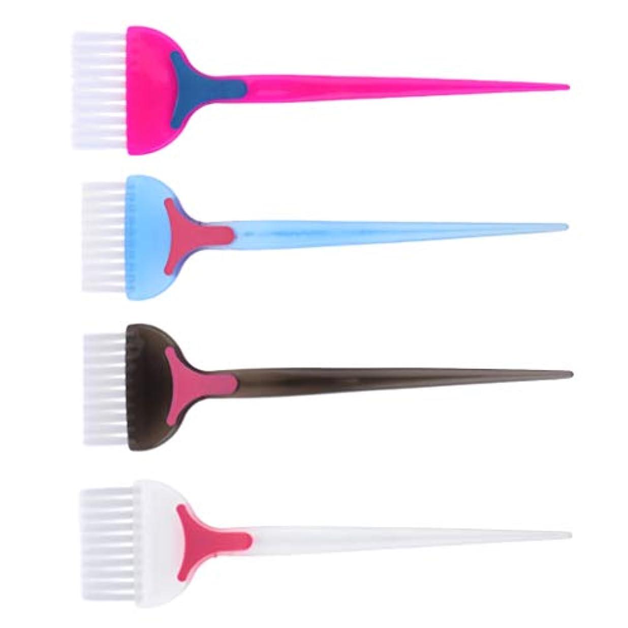 ラグ吸収ギャップPerfeclan ヘアダイ コーム 髪染めブラシ 天然樹脂 耐高温 帯電防止 靭性 壊れにくい 家庭用 美容師プロ用