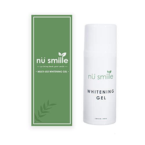Nu Smiile Teeth Whitening Gel, 9 Key Natural Ingredients, Refills Gel, 3.38 Fluid Ounce