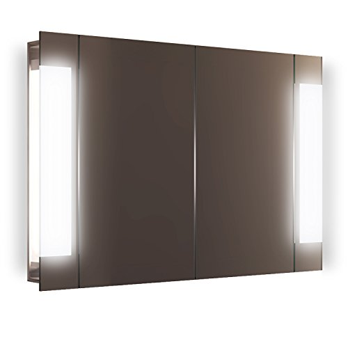 Diamond X Collection Gentle LED Bathroom Mirror Cabinet With Demister Pad, Sensor & Shaver k1502i by Diamond X Collection