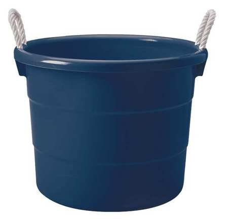 Storage Tub with Rope Handles, 18 Gallon, Navy Blue ()