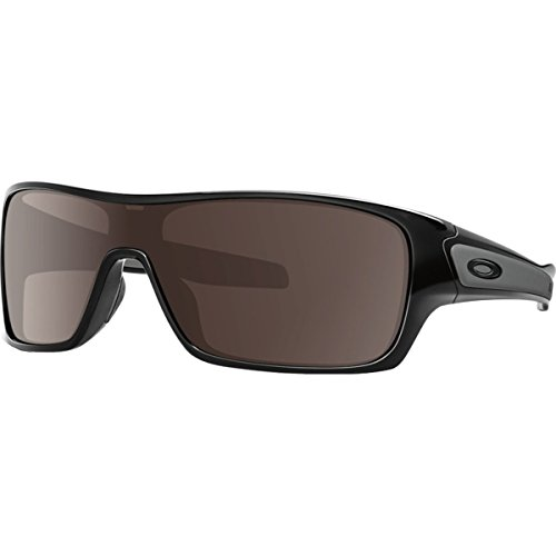 OAKLEY Turbine Rotor Sunglasses, Polished Black W/Warm ()