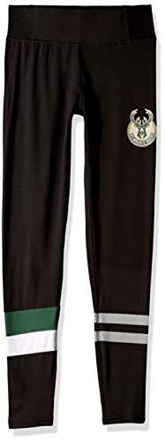 NBA Milwaukee Bucks Women's Leggings Perimeter Fitness Sport Yoga Pants, Small, Black
