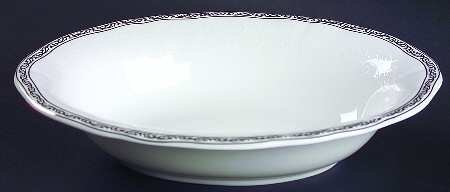 Wedgwood China Open Vegetable Dish (Wedgwood China Queen's Lace 9.7