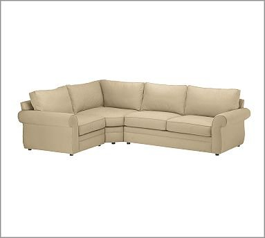 Wondrous Amazon Com Pottery Barn Pearce 3 Piece Sectional With Theyellowbook Wood Chair Design Ideas Theyellowbookinfo