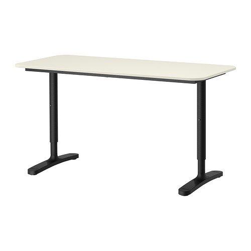 ikea BEKANT Desk, White, Black by IKEA